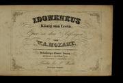 Idomeneus : König Von Creta : Oper in Dr... by Mozart, Wolfgang Amadeus