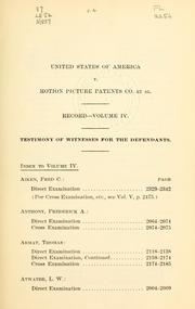 In the District Court of the United Stat... Volume Vol. 4 by Motion Picture Patents Company