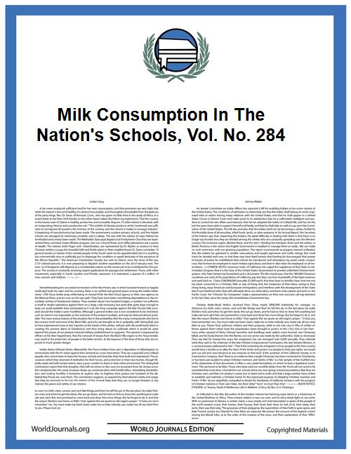 Milk Consumption in the Nation's Schools... Volume Vol. No. 284 by Anderson, Kenneth Eugene