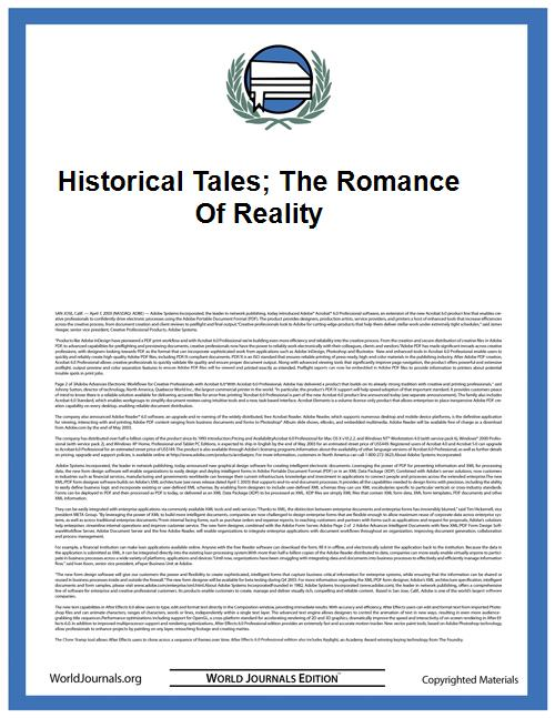 Historical Tales; the Romance of Reality by Morris, Charles