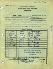 Suny Maritime Ndsl Promissory Note by Suny Maritime College