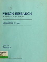 Vision Research - a National Plan: 1978-... by National Advisory Eye Council