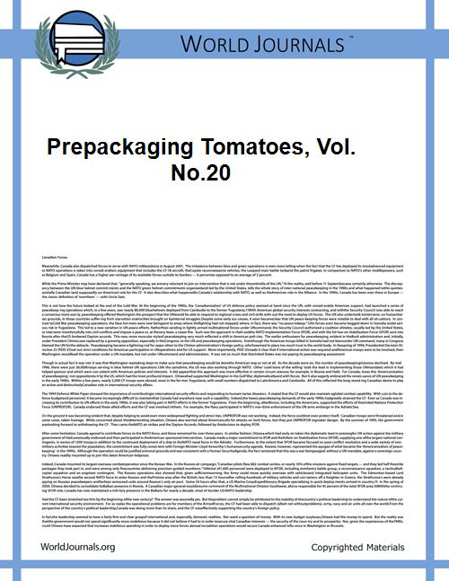 Prepackaging Tomatoes, Vol. No.20 Volume Vol. no.20 by Aronow, William A., 1924-
