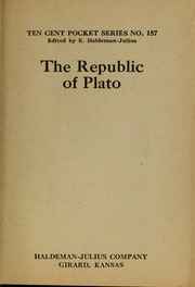 The Republic of Plato, Vol. 157 Volume Vol. 157 by Plato