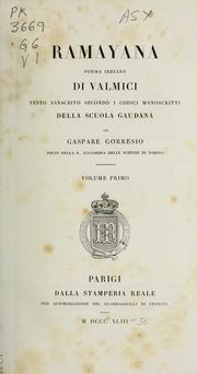 Rāmāyana : Poema Sanscrito Di Valmici ... Volume Vol. v.1 by Vālmīki