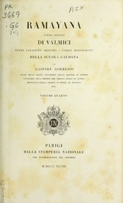 Rāmāyana : Poema Sanscrito Di Valmici ... Volume Vol. v.4 by Vālmīki
