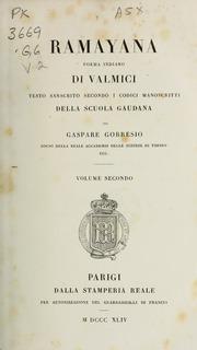 Rāmāyana : Poema Sanscrito Di Valmici ... Volume Vol. v.2 by Vālmīki