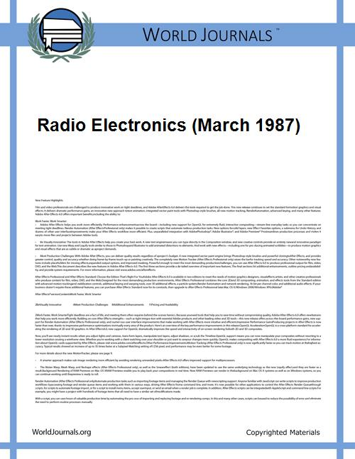 Radio Electronics (March 1987) by