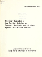 Preliminary Evaluation of New Candidate ... Volume Vol. no.882 by McDonald, Lehman L