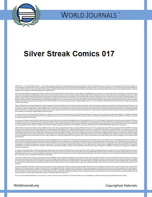 Silver Streak Comics 017 by Lev Gleason Comics / Comics House Publications