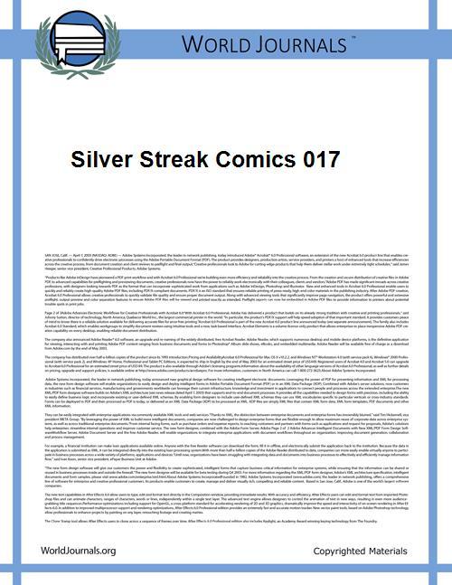 Silver Streak Comics 017 by Lev Gleason Comics / Comics House Publications