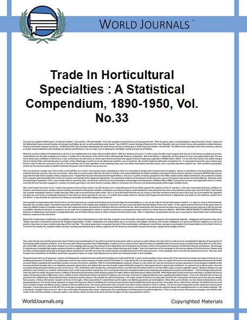 Trade in Horticultural Specialties : a S... Volume Vol. no.33 by Fossum, Mennick Truman, 1912-