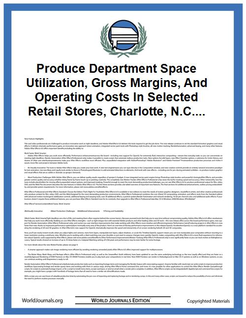Produce Department Space Utilization, Gr... Volume Vol. no.36 by Bitting, H. Wayne (Herbert Wayne), 1911-