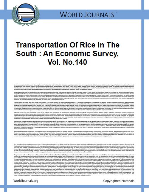 Transportation of Rice in the South : an... Volume Vol. no.140 by Limmer, Ezekiel, 1912-