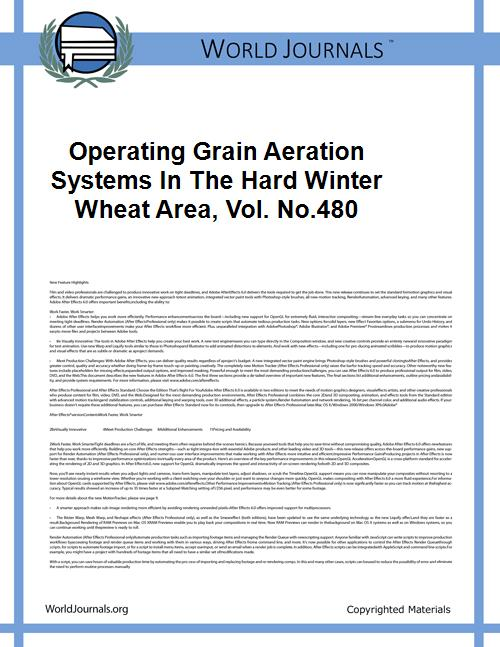 Operating Grain Aeration Systems in the ... Volume Vol. no.480 by Kline, Gerald L., 1922-