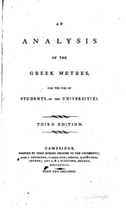 An Analysis of the Greek Metres by John Barlow Seale