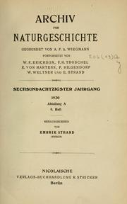 Archiv Furgeschichte : Volume 86 Heft 6-... by Berlin : Nicolai