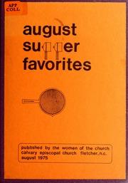 August Supper Favorites by Calvary Episcopal Church (Fletcher, N.C.)