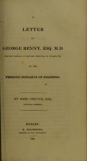 A Letter to George Renny ... on the Feig... by Cheyne, John, 1777-1836