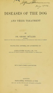 Diseases of the Dog and Their Treatment by Glass, Alexander