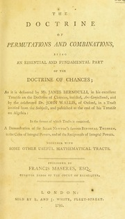 The Doctrine of Permutations and Combina... by Maseres, Francis, 1731-1824. N 82070823