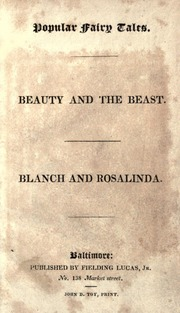 Beauty and the Beast. Blanch and Rosalin... by Baltimore : Published  Fielding Lucas, Jr., No. 13...