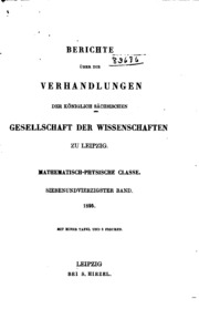 Berichte Über Die Verhandlungen Der Köni... Volume Year 1895 by Königlich Sächsische Gesellschaft Der Wissenschaft...