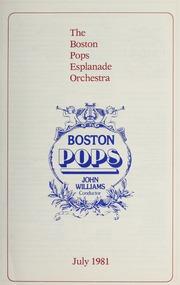 Boston Pops Esplanade Concert Programs, ... by Boston Symphony Orchestra