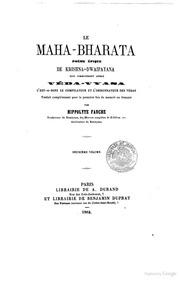 Le Mahabharata Poème Épique De Krishnadw... by A Durand