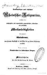 Denkwürdiger Und Nützlicher Rheinischer ... by Stramberg, Christian Von, 1785-1868