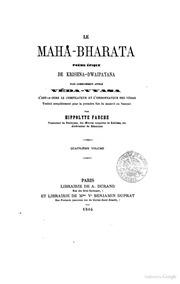 Le Mahabharata Poème Épique De Krishnadw... by A. Durand
