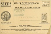 Sioux City Seed Co. [price List] : Dec. ... by Sioux City Seed Co