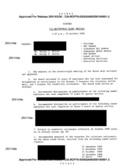 Minutes CIA Retirement Board Meeting 1:3... by Central Intelligence Agency