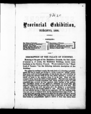Provincial Exhibition, Toronto, 1858 [mi... by Provincial Exhibition (1858 : Toronto, Ont.)
