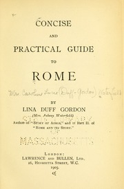 Concise and Practical Guide to Rome by Gordon, Lina Duff, B. 1874