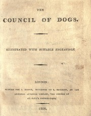 The Council of Dogs by Roscoe, William, 1753-1831