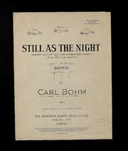 Still Wie Die Nacht, Op. 326, No. 27 by Bohm, Carl, 1844-1920