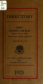 Directory: First Baptist Church (Opposit... by First Baptist Church (Opposite Sheritan Hotel), Hi...