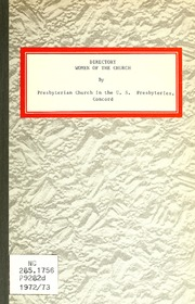 Directory, Women of the Church, Presbyte... by Prestery of Concord, Synod of North Carolina