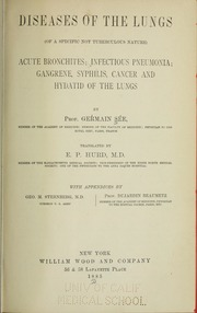 Diseases of the Lungs, of a Specific Not... by Sée, Germain, 1818-1896