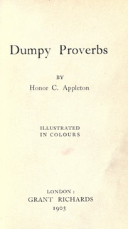 Dumpy Proverbs by Appleton, Honor C
