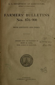 Farmer's Bulletins by United States. Dept. of Agriculture