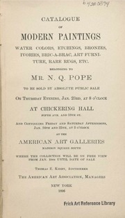 Catalogue of Modern Paintings, Water Col... by American Art Association