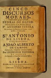 Cinco Discursos Moraes, Fundados Nas Cin... by Vieira, António, 1608-1697