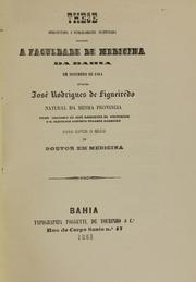These Apresentada E Publicamente Sustent... by Figueiredo, José Rodrigues De