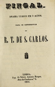 Fingal: Drama Lyrico Em 3 Actos by Coppola, Pietro Antonio, 1793-1877, Composer