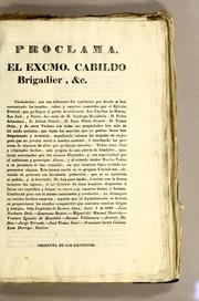 Proclama. El Excmo. Cabildo Brigadier, &... by Buenos Aires (Argentina). Cabildo
