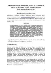 La Violencia Familiar Y Su Influencia En... by Rodolfo Sergio González Castro