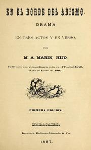 En El Borde Del Abismo : Drama En Tres A... Volume Vol. v. 331, no. 17 by Marín, Manuel Antonio