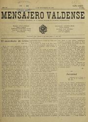 Mensajero Valdense, Vol. V.15, No.350 (N... Volume Vol. v.15, no.350 (nov. 15, 1933) by
